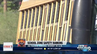 Arizona ranks among worst for school zone safety