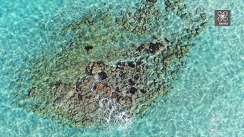Rare drone footage of the oldest submerged city in the World