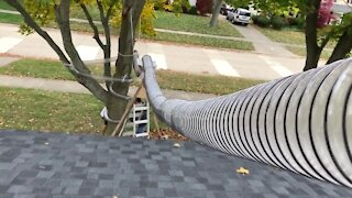 Troy family builds epic Halloween candy chute