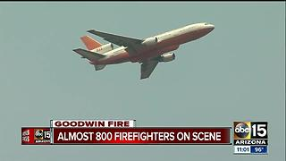 Goodwin fire grows to almost 25,000 acres - Video