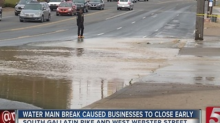 Water Main Break Closes Lanes Of S. Gallatin Pk.