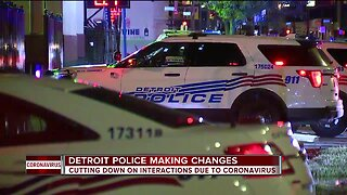 Detroit Police Department cutting down on interactions amid COVID-19