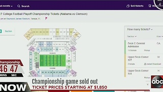 Championship game sold out - Video