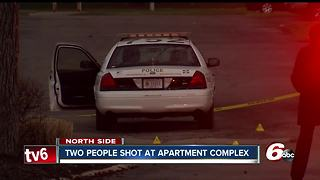 Two people shot at apartment complex - Video