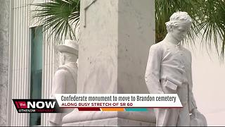 Confederate monument to move to Brandon cemetery