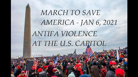 THE MARCH TO SAVE AMERICA - ANTIFA THUGS INFILTRATED PEACEFUL TRUMP DEMONSTRATORS