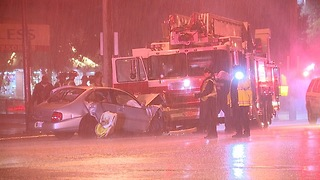 Two Cleveland fire trucks involved in two crashes; one person dead - Video