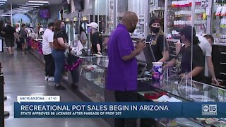 Recreational pot sales begin in Arizona