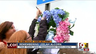 Leelah Alcorn Memorial Highway Wreath