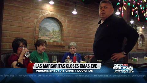 Las Margaritas restaurant on Grant closing