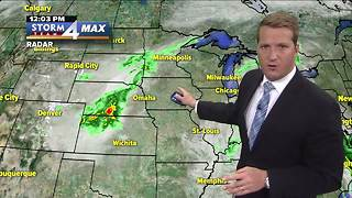 Slight chance of showers Tuesday afternoon - Video