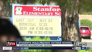 4th graders, parents hold protest outside elementary school