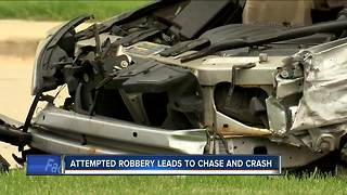 3 suspects arrested after attempted bank robbery in Shorewood, police chase in Milwaukee - Video