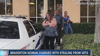 Bradenton woman charged with stealing from vets