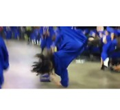 Man Tries to Somersault at Graduation, Fails Miserably - Video