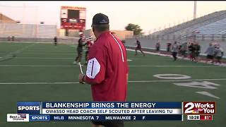 Bill Blankenship brings the energy in return to Oklahoma High School Football - Video
