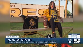 Kicks for Krysten: Former Marcos de Niza kicker inspiring others on road to recovery