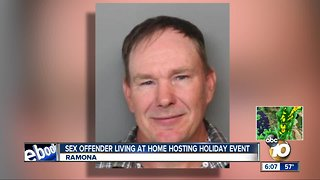 Sex offender living at home hosting holiday event - Video