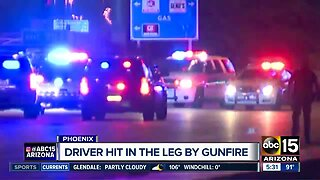 Drive-by shooting suspect on the run in Phoenix