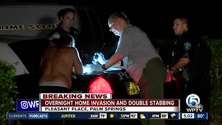 2 stabbed after home invasion in Palm Springs - Video