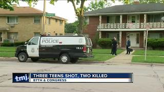 Three teens shot, two killed