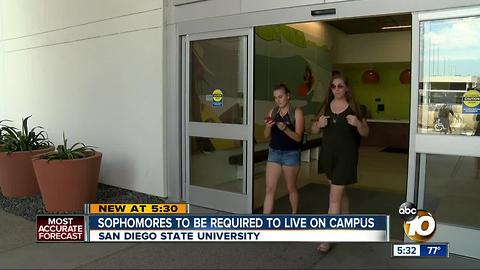 SDSU sophomores to be required to live on campus