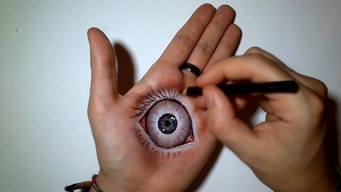 This 'Eye in Hand' illusion will creep you out!
