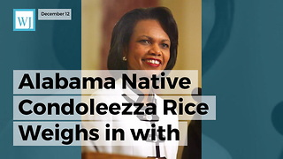 Alabama Native Condoleezza Rice Weighs In With Message For Voters Right Before Roy Moore Election - Video