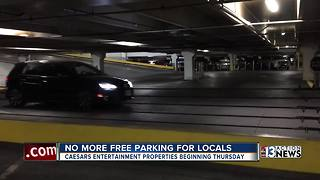 No more free parking for Nevada residents at most Caesars properties - Video