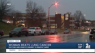 Woman beats lung cancer