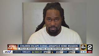 Children escape during Annapolis home invasion - Video