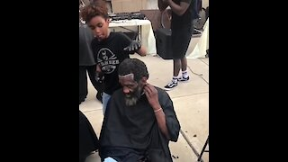 Junior Barber Academy Gives Free Haircuts To The Homeless