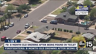 8-month-old dies after being found in a toilet at a Phoenix home