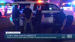 Phoenix police arrests dozens with copy-and-paste evidence