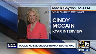 Cindy McCain apologizes after police dispute human trafficking claim