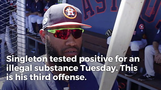 Astros Prospect Jon Singleton Slapped With 100-Game Suspension - Video