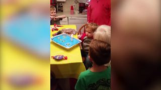 Baby Girl Blows Out Her Birthday Candle - Video