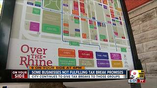 When companies miss job projections, tax breaks from Cincinnati continue - Video