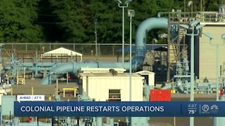 Colonial Pipeline restarts operations days after major hack