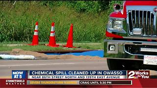 Chemical spill in Owasso cleaned up - Video