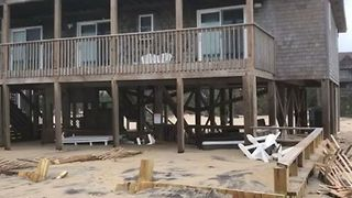 Hurricane Florence Leaves Damage to Seafront Homes in Avon, North Carolina - Video