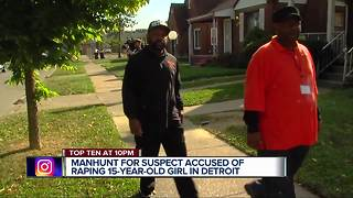 Manhunt continues for suspect accused of raping 15-year-old girl in Detroit - Video