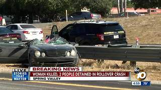 Woman killed, 2 detained in crash