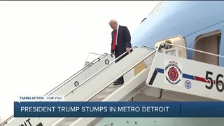 President Trump tours Ford plant in Ypsilanti