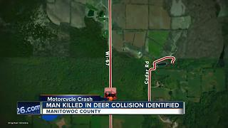 Manitowoc man killed in motorcycle crash with deer - Video