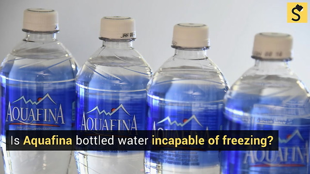 FACT CHECK: Aquafina Bottled Water Does Not Freeze?