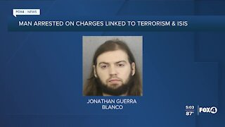 Man arrested on charges linked to terrorism and ISIS