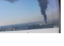Plane Passenger Captures Plume of Smoke Rising From Fire Near Paris Airport - Video