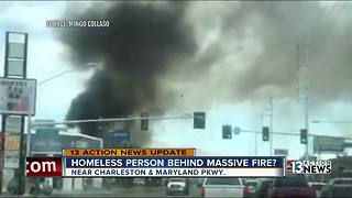 UPDATE: Homeless person may have caused Downtown fire - Video