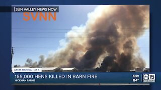165,000 laying hens die in massive fire at Hickman's Egg Farm in Tonopah